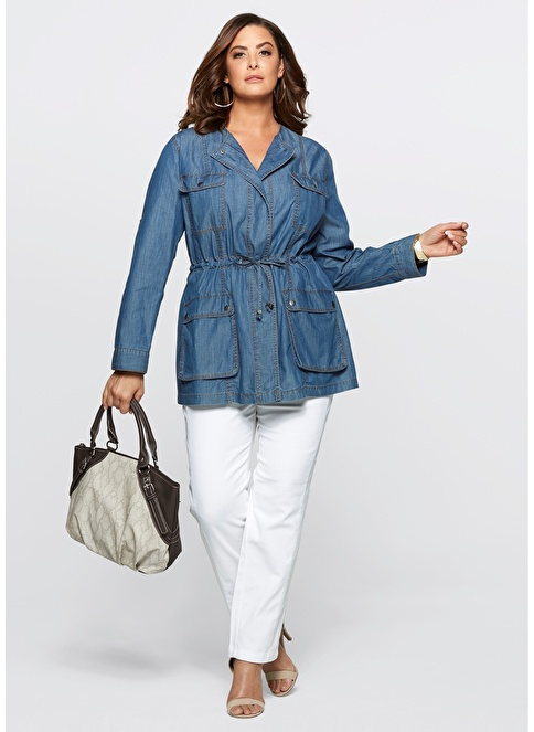 Bonprix Plus Ceket Mavi